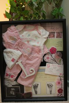 Baby's first shadow box- seems like so long ago.