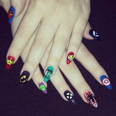 Top Awesome Avengers Nail Art Designs