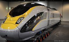 Eurostar E320 by Pininfarina High speed train exterior yellow grey black