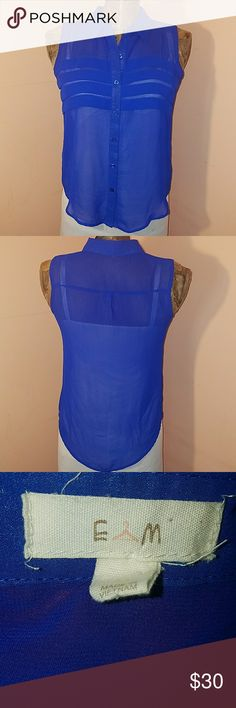 Anthropologie E (hanger) M blouse 100% polyester. Fits true to size. Mannequin is a size 8/10 Anthropologie Tops Blouses