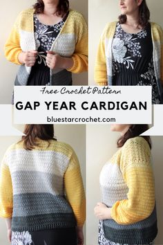 easy open front crochet cardigan pattern is a beginner friendly pattern on the blog. this free crochet pattern for a lightweight cotton crochet cardigan is designed in XS-5XL sizes. it is a quick and easy project for beginners and experienced crocheters alike. the front crochet neckline is worked as part of each row start and end so the project grows really quick. #crochetcardigan #cottoncrochetcardigan Easy Beginner Crochet Patterns, Modern Crochet Patterns, Crochet Designs, Free Crochet, Knit Crochet, Crochet Sweaters, Crochet Tops, Crochet Granny, Crochet Motif