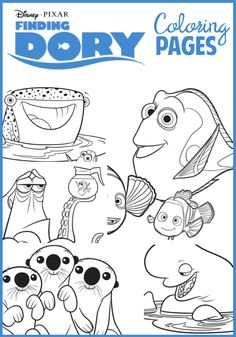 Finding Dory Coloring And Activity Pages Coloring Pages