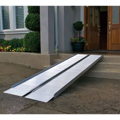 Mobility suitcase ramp installed on front porch