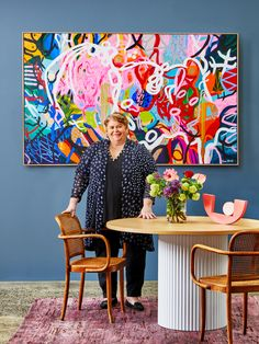 Artist Joan Blond's work filled with joie de vivre - The Interiors Addict Colorful Abstract Art, Abstract Wall Art, Abstract Paintings, Art Paintings, Colorful Paintings, Indian Paintings, Abstract Oil, Landscape Paintings, Sculptures For Sale