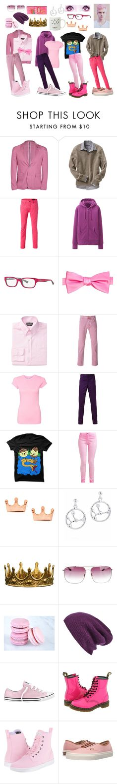 """Adventure Time: Prince Gumball"" by cartoonvillian ❤ liked on Polyvore featuring DKNY, Old Navy, Marc Jacobs, Uniqlo, Ray-Ban, Saddlebred, Lauren Ralph Lauren, Jacob Cohёn, Comme des Garçons Homme and Mminimal"