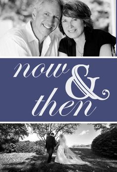 Now And Then Photo  40th Anniversary Party Invitation by PurpleTrail.com