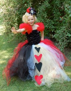 Queen of Hearts from Alice In Wonderland Couture Costume Birthday Halloween Photoshoot for Girls Newborn to 6T