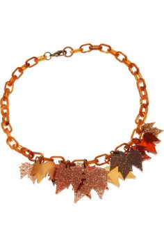 Fallen Leaves Short Charm Necklace £54 - AW10 The Age of Blazing Trails