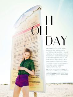 holiday: svea kloosterhof by jonas bie for eurowoman july 2013 #fashion #editorial #photography