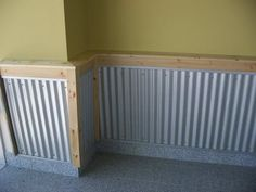 corregated wainscoting | Re: Pics of my garage and shop