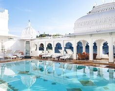 Poolside at the Taj Lake Palace, Udaipur, India. Photo courtesy of tjinlee on Instagram.