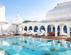 Poolside at the Taj Lake Palace, Udaipur, India. Photo courtesy of tjinlee on Instagram.