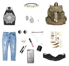 """""""Untitled #1"""" by mitzhar ❤ liked on Polyvore featuring Boohoo, Vans, Wet Seal, Full Tilt, Kate Spade, Impulse, MANGO, Monsoon, Essie and NARS Cosmetics"""