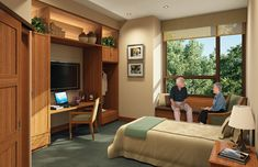 Assisted living patient room- Nice warm, comfortable feeling