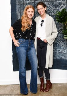 Picture perfect: Amy and actress Michelle Monaghan, 40, posed for a snapshot together at the affair