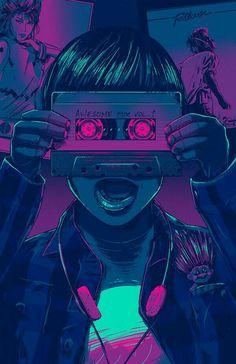 Guardians of the Galaxy / Oscars 2015 – Illustration – retro Arte Cyberpunk, New Retro Wave, Retro Waves, Arte Pop, Illustrations, Illustration Art, Wow Art, Guardians Of The Galaxy, Oeuvre D'art