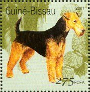 Airedale Terrier  stamp from Guinea