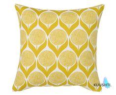 Yellow Pillow Geometric Cushion Lime Yellow Scandinavian