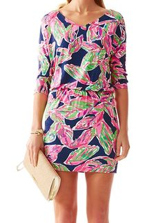 Lilly Pulitzer Cara Dolman Sleeve Dress in In the Vias