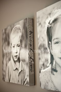 Cute Kiddo Canvas w/ Child's Name on Side.