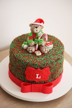 Natal 2014 Christmas Themed Cake, Christmas Cake Decorations, Holiday Cakes, Christmas Desserts, Easy Christmas Treats, New Year's Cake, Cake Decorating Tutorials, Buttercream Cake, Cake Creations