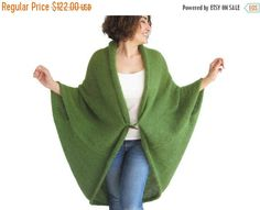 50% CLEARENCE NEW Plus Size Over Size Green Wool Overcoat