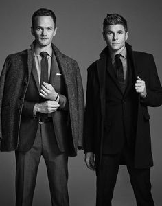 A campaign image for London Fog featuring Neil Patrick Harris and David Burtka.  By Lisa Lockwood London Fog might be a 90-year-old outerwear brand, but it's a progressive thinker.  For its holiday ad campaign, it will feature Neil Patrick Harris and his husband, David Burtka.  Photographed by Nino Muñoz, the ads show the newlyweds in London Fog outerwear, clothing and accessories.