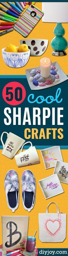 DIY Sharpie Crafts - Cool and Easy Craft Projects and DIY Ideas Using Sharpies - Use Markers To Decorate and Design Home Decor, Cool Homemade Gifts, T-Shirts, Shoes and Wall Art. Creative Project Tutorials for Teens, Kids and Adults http://diyjoy.com/diy-sharpie-crafts
