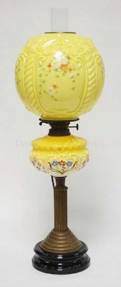 Lot: ENGLISH VICTORIAN BANQUET LAMP WITH HAND PAINTED, Lot Number: 1004, Starting Bid: $100, Auctioneer: Dennis Auction Service, Inc., Auction: Friday Dec 1st Antique Public Auction at 2pm!, Date: December 1st, 2017 EST