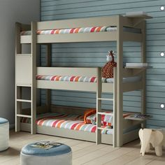 Bedroom Triple White Bunk Bed White Triple Bunk Bed With Storage Triple Bunk Bed White Wood Triple Bunk Bed With Trundle Triple Bunk Bed with Special Features for Children and Teens