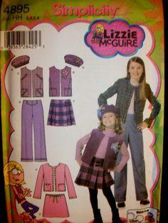Simplicity Lizzie McGuire Pattern Simplicity 4895 Size 7-14