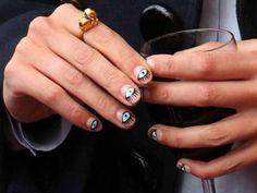 eye/kenzo themed nail art