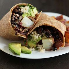 "Love breakfast burritos? Well, you're going to love this Vegan Breakfast Burrito recipe from the Minimalist Baker's new recipe book ""Everyday Cooking!"""