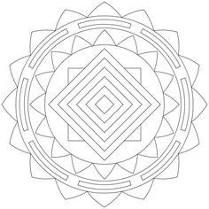 Mandala-Ausmalbild Nr. 45