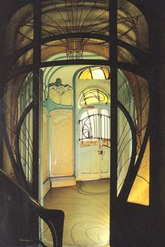 "Doorsssssss Hector Guimard (French, Maison Coilliot, Lille, France, Guimard designed this building as a ""live/work"" space and ceramic studio. The fireplace and exterior decoration are a combination of enameled lava and ceramics. by jayne Architecture Design, Architecture Art Nouveau, Beautiful Architecture, Design Art Nouveau, Art Nouveau Interior, Art Nouveau Furniture, Belle Epoque, Deco France, Art Nouveau Arquitectura"