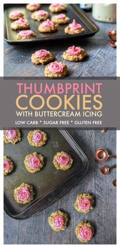 These low carb thumbprint cookies are the perfect sweet treat for the holiday season. No one will know that they are sugar free and gluten free and best of all they are only 0.9g net carbs per cookie! #lowcarbcookie #sugarfreecookie #glutenfreecookie