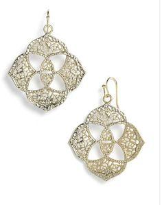 Kendra Scott 'Rajan' Open Filigree Earrings