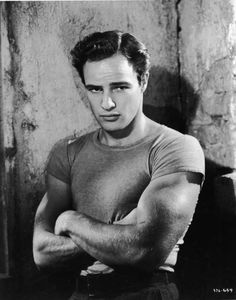 handsome and studly tight shirt Marlon Brando Streetcar Named Desire Marlon Brando Children, Marlon Brando Eye Roll, Marlon Brando Wife, Brando Godfather, Marlon Brando Movies, Marlo Brando, Marlon Brando James Dean, Nebraska, Hot Bad Boy