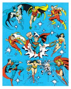 Vintage 80's DC Comics Character Stickers by CollectorsWarehouse