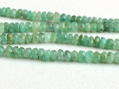 Emerald Beads Natural Emerald Faceted Rondelle by gemsforjewels