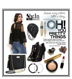 """Black Blouse"" by edin-levic ❤ liked on Polyvore featuring Victoria's Secret and Lokai"