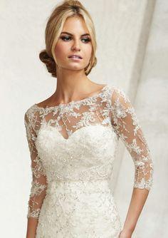 Bridal Off Shoulder French Lace Wedding Jacket Bolero Shrug Top