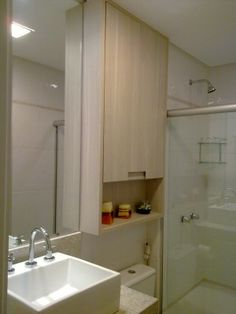 armario espelho em cima vaso sanitario - Pesquisa Google