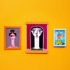 DIY MOLDURAS  Aprenda a fazer esses 3 modelos de molduras para deixar a sua presença mais colorida e alegre!!