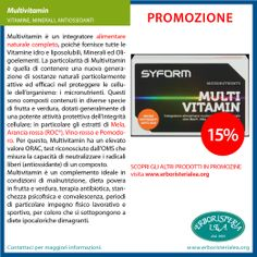 #promozione mulivitamin integratori #vitamine #minerali #antiossidanti scopri gli altri prodotti in promozione su www.erboristerialea.org