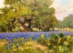 "Daily Paintworks - ""Along the fence line"" - Original Fine Art for Sale - © David Forks"