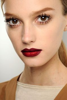 love the lip colour, spider eyelashes not so much