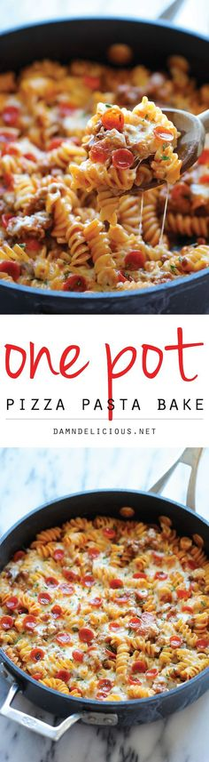 #RT www.williamotoole.com/rob1  One Pot Pizza Pasta Bake - An easy crowd-pleasing one pot meal that the whole family will love! Everyone will be begging for seconds!