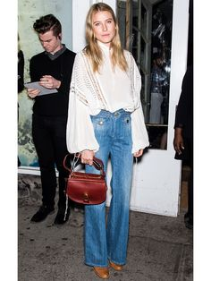 How To Wear The Bohemian Look – Fashion Costume Jewelry Cheap Gifts - 70s Fashion, Fashion Week, Denim Fashion, Look Fashion, Autumn Fashion, Dree Hemingway, Looks Street Style, Looks Style, My Style