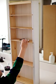 Inlaid wall shelf, with instructions! Put them anywhere.